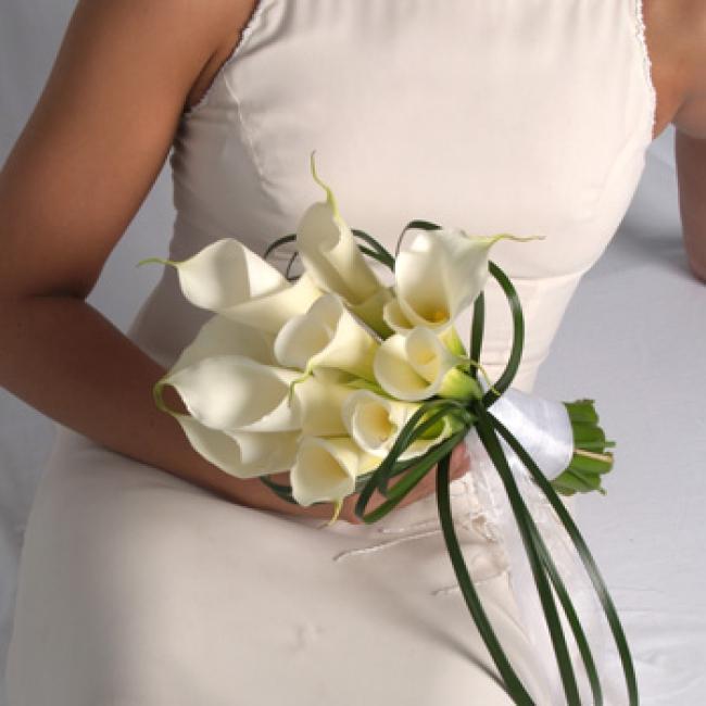 Свадебный букет в портбукетнице